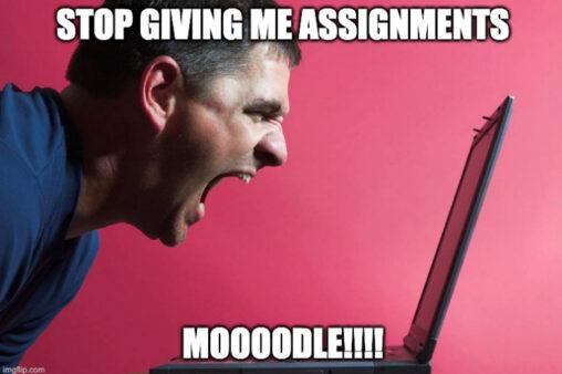 Man yelling at computer
